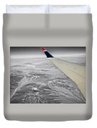 Above The Clouds Wing Tip View Sc Duvet Cover