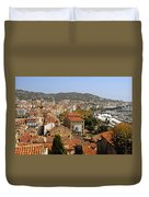 Above The Roofs Of Cannes Duvet Cover