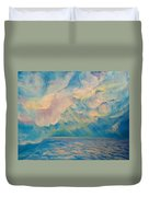 Above The Sun Splashed Clouds Duvet Cover