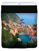 Above Vernazza Duvet Cover by Inge Johnsson