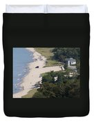 Above View Of Empires Beach Duvet Cover