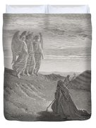 Abraham And The Three Angels Duvet Cover