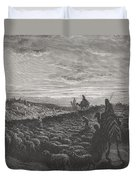 Abraham Journeying Into The Land Of Canaan Duvet Cover