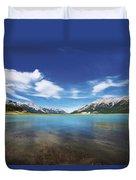 Abraham Lake Alberta Canada Duvet Cover