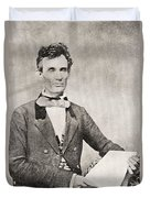 Abraham Lincoln, 1809 – 1865, Seen Here In 1854.  16th President Of The United States Of America Duvet Cover