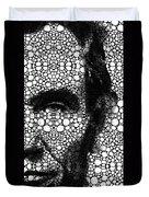 Abraham Lincoln - An American President Stone Rock'd Art Print Duvet Cover by Sharon Cummings