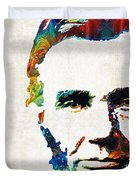 Abraham Lincoln Art - Colorful Abe - By Sharon Cummings Duvet Cover