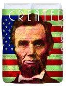 Abraham Lincoln Gettysburg Address All Men Are Created Equal 20140211p68 Duvet Cover