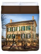 Abraham Lincoln Home In Springfield Illinois Duvet Cover