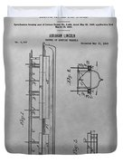 Abraham Lincoln Patent Drawing Duvet Cover