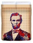 Abraham Lincoln Pop Art Duvet Cover