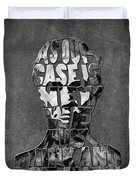 Abraham Lincoln Quote Original Typography Black And Whte Duvet Cover