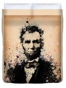 Abraham Lincoln Splats Color Duvet Cover