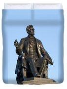 Abraham Lincoln Statue Philadelphia Duvet Cover