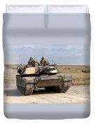 Abrams M1a1 Main Battle Tank Duvet Cover