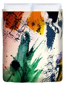 Abstract - Splashes Of Color Duvet Cover