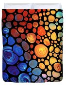 Abstract 1 - Colorful Mosaic Art - Sharon Cummings Duvet Cover