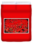 Abstract 124 Red Flowers Duvet Cover