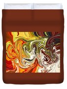 Abstract 127 Duvet Cover by Carol Sullivan