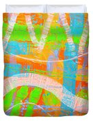 Abstract  23614   Diptych  I  Duvet Cover