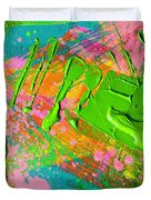 Abstract 6814 Diptych Cropped Xvi  Duvet Cover