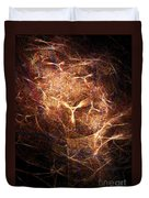 Abstract Angels Burning Sepia Duvet Cover