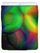 Journey - Square Abstract Art  Duvet Cover
