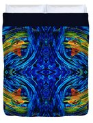 Abstract Art - Center Point - By Sharon Cummings Duvet Cover