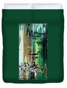 Abstract Art Colorful Original Painting Green Valley By Madart Duvet Cover