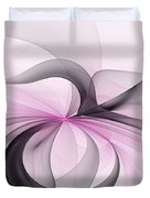 Abstract Art Fractal With Pink Duvet Cover