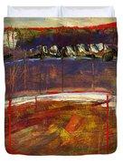 Abstract Art Landscape Duvet Cover by Blenda Studio