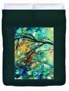 Abstract Art Landscape Circles Painting A Secret Place 2 By Madart Duvet Cover