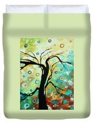 Abstract Art Landscape Circles Painting A Secret Place 3 By Madart Duvet Cover