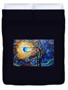 Abstract Art Landscape Metallic Gold Textured Painting Eye Of The Universe By Madart Duvet Cover