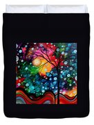 Abstract Art Landscape Tree Painting Brilliance In The Sky Madart Duvet Cover