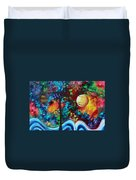 Abstract Art Original Enormous Bold Painting Essence Of The Earth I By Madart Duvet Cover by Megan Duncanson