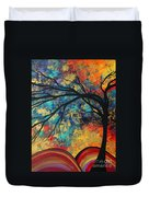 Abstract Art Original Landscape Painting Go Forth II By Madart Studios Duvet Cover