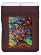 Abstract Art Original Landscape Painting Go Forth IIi By Madart Studios Duvet Cover