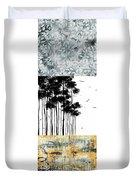 Abstract Art Original Landscape Pattern Painting By Megan Duncanson Duvet Cover