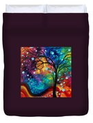 Abstract Art Original Painting Winter Cold By Madart Duvet Cover