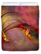 Abstract Art Print Hummingbird Duvet Cover