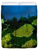 Abstract Art Projection Over Night Nature Scenery Duvet Cover
