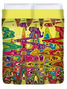 Abstract Background With Bright Colored Waves 5 Duvet Cover