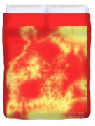 Abstract Batik In Yellow And Red Shades Duvet Cover