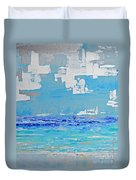 Silver Sky Beach Duvet Cover