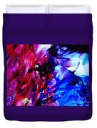 Abstract Blue And Pink Festival Duvet Cover by Andrea Anderegg