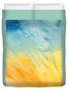 Abstract Blue And Yellow Duvet Cover
