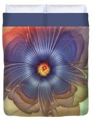 Abstract Blue Flower In Sunday Dress Duvet Cover