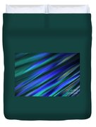 Abstract Blue Green Diagonal Blur Duvet Cover