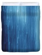 Abstract Blue Rain Duvet Cover